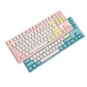 新品发售: GANSS 高斯 HS-87D Hello GANSS 白桃 双模无线机械键盘