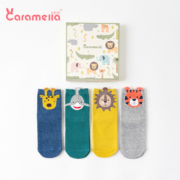 Caramella 焦糖玛奇朵 儿童中筒棉袜 4双装
