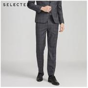 SELECTED/思莱德 男商务格纹图案正装西裤 42016A511