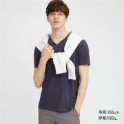 UNIQLO 优衣库 419494 男装袋装V领T恤19元
