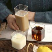 MINGSHANGDE 明尚德 透明玻璃杯方形杯子 400ml*2只装¥7.95 3.1折 比上一次爆料降低 ¥2