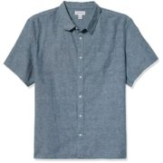 prime会员!Calvin Klein 卡尔文·克莱因 男士亚麻棉短袖衬衫  含税直邮到手¥102.41