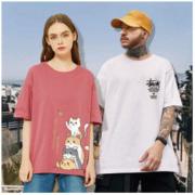 VISLIONGO 威狮格 情侣亲子款 纯棉短袖T恤