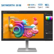 22点:Skyworth 创维 28U1 28英寸IPS显示器(4K、90%P3、HDR10、Type-C)