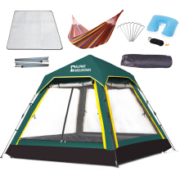 ALPINT MOUNTAIN 610-406 野外防水全自动帐篷 墨绿色套餐