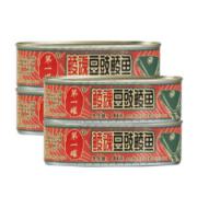 中华老字号 鹰金钱 鲮魂豆豉鲮鱼罐头 184g*4罐