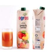 agros 莱果仕 鲜桃汁1L*2瓶