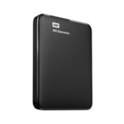 Western Digital 西部数据 Elements 新元素系列 2.5英寸 USB3.0便携式移动机械硬盘 1TB 黑色