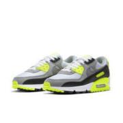 NIKE 耐克 Air Max 90 女士跑鞋 CD0490-101 白黑/荧光绿 37.5