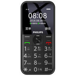 PHILIPS 飞利浦 E163K 手机 移动/联通2G 陨石黑