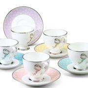 prime会员!Narumi 鸣海 Felicita系列 骨瓷咖啡杯碟套装 5套 96132-21755P  直邮含税到手689.14元