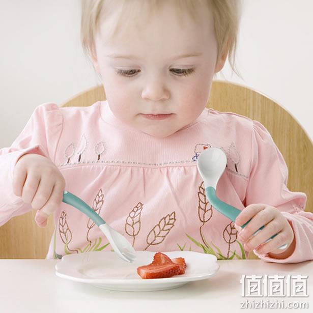 babycare宝宝辅食勺+叉子套装