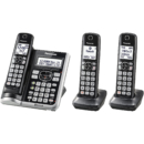Panasonic 松下 Link2Cell 蓝牙无绳电话机 带语音协助和应答功能 3 个听筒