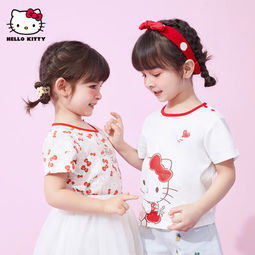 Hello Kitty 夏季新款女童短袖T恤
