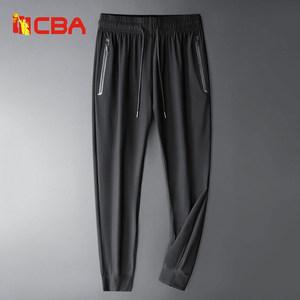 CBA 夏季薄款 弹力冰丝休闲运动裤