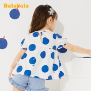 balabala 巴拉巴拉 女童波点短袖衬衫