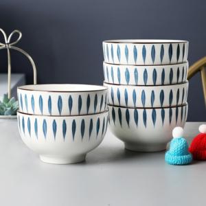 质邦 日式餐具 陶瓷大碗 8寸大碗*2个装