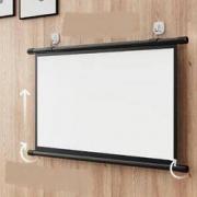 QBX 手动式壁挂投影幕布 白塑 60寸 4:3 长1.34m18.9元包邮