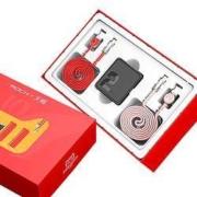 ROCK 洛克 方糖双口充电器 1C1A 22.5W + 苹果充电线2条39元包邮(需用券)
