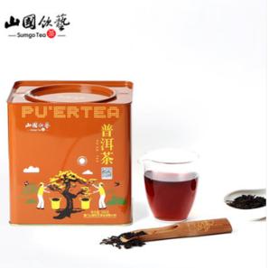 专柜同款!山国饮艺 云南勐海普洱茶熟茶 500g盒装 送礼袋新低49元包邮(需领券)