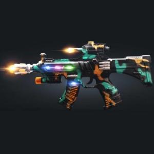 MUNAISI 牧奈斯 ZS.142A 35CM迷彩冲锋枪 电动玩具枪 声光玩具