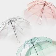 BANANA UNDER 蕉下 长柄透明雨伞 大号 三折