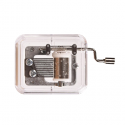 JIMITU 吉米兔 透明手摇音乐盒 银色 卡农11.8元包邮(需用券)