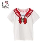 Hello Kitty 凯蒂猫 女童圆领短袖T恤 90-150CM*3件89元包邮(折29.66元/件)