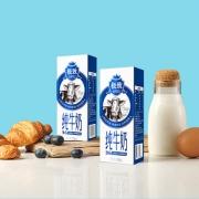 3.6g天然乳蛋白:250mlx12盒x2件 三元 极致全脂纯牛奶71元包邮