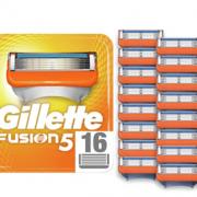 中亚Prime会员! Gillette 吉列 Fusion5 锋隐 男士剃须5层刀片 16件装 含税到手¥187.19