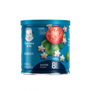 Gerber 婴儿辅食宝宝零食 菠菜番茄泡芙 星星米饼 磨牙饼干米饼49g(8月龄以上)