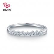 zbird 钻石小鸟 花漫 RDL54-1 18K金排钻戒指