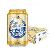青岛啤酒 9度大白鲨啤酒 330*24听37元包邮