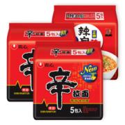 农心 韩式辛拉面 15连包 无油包清爽不腻