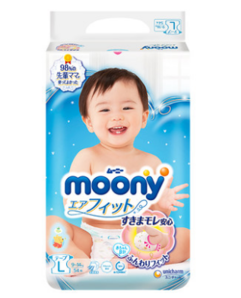 88VIP! moony 尤妮佳 婴儿纸尿裤 L54