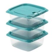 CHAHUA 茶花 冰箱储物 保鲜盒 460ml*3个装