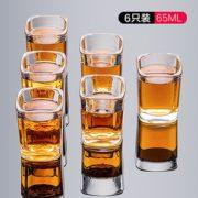 杯口圆润设计!Zoikou 象扣 玻璃白酒杯 65ml 6个