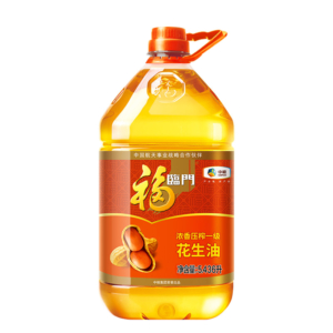 88VIP:福临门 浓香压榨一级花生油 5.436L/桶 *2件