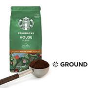 100%阿拉比卡豆,单件免税!200gx6袋 Starbucks星巴克 House Blend中度烘焙咖啡粉