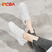 CBA 女士 百搭时尚 真皮小白鞋