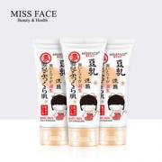 Miss face 豆乳洗面奶 100g*3支