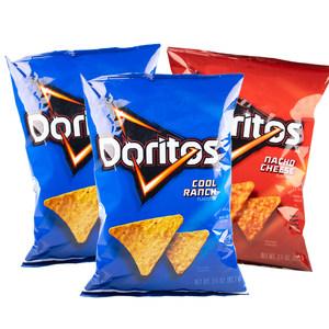美国进口 Doritos 奶酪味/农场味 玉米片 92.1g*3袋