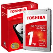 TOSHIBA 东芝 东芝(TOSHIBA)1TB 台式电脑机械硬盘 64MB 7200RPM SATA接口 P300系列(HDWD110)旗舰 自营