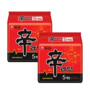 天猫超市 韩国进口 农心辛拉面 10连包 清爽不腻39.9元包邮