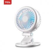 TCL-TFZ--U1 迷你床上桌面静音小电风扇 充电款14.9元包邮(需用券)