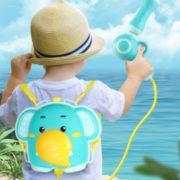 快乐玩水!爱智乐 儿童卡通动物背包式水枪玩具 中号¥11.90 2.1折
