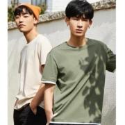 A21 R492131109 男女款新疆棉撞色短袖T恤35.5元(双重优惠)