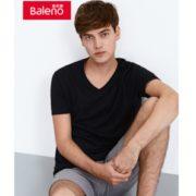 Baleno 班尼路 男士青年时尚纯色V领短袖T恤 (需买4件)