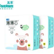 FIVERAMS 五羊 薄薄芯 婴儿纸尿裤 M码21片*2包