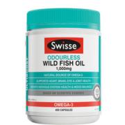 Swisse 无腥味深海鱼油软胶囊 1000mg*400粒81.2元包邮历史新低价